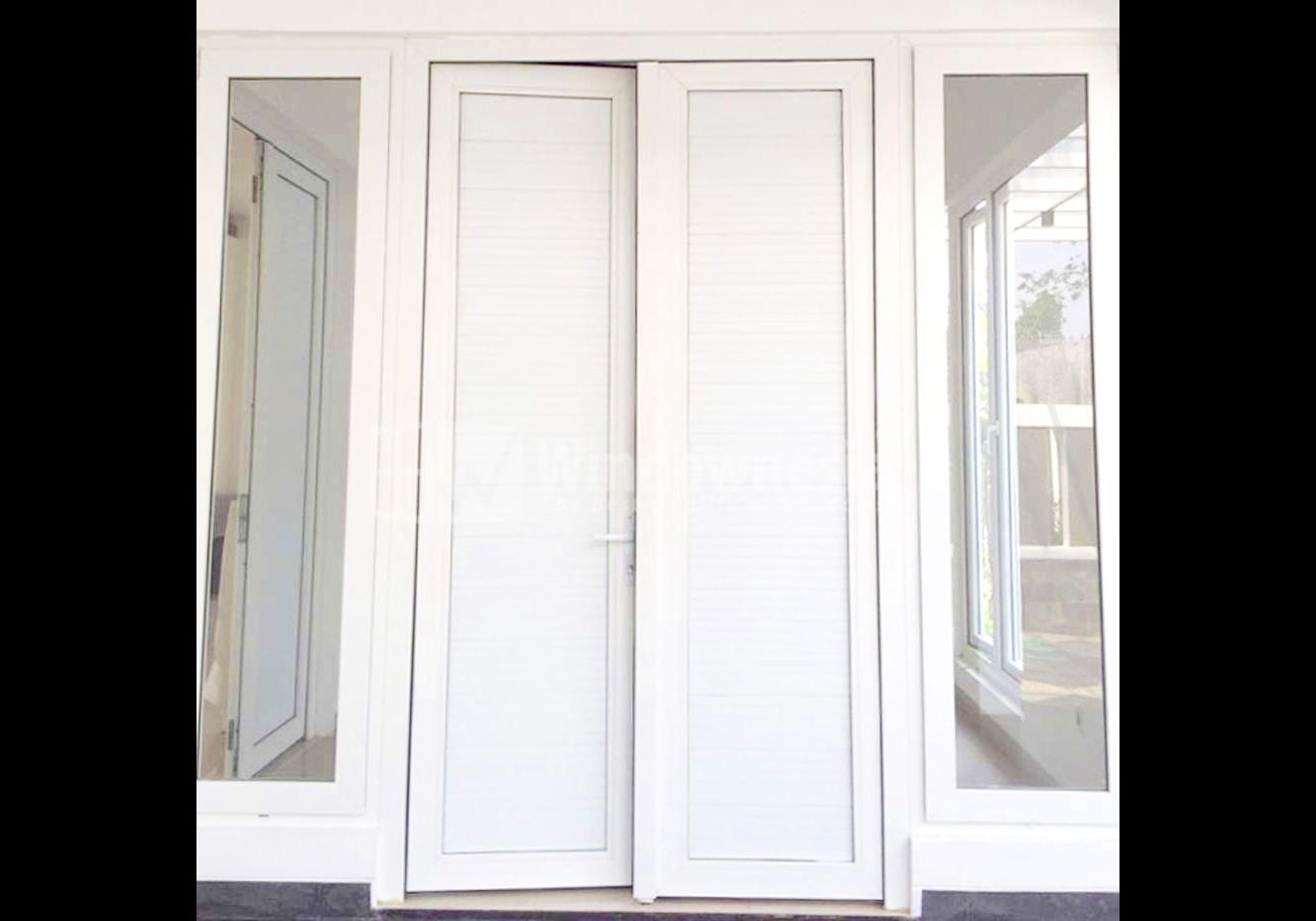 Pintu Panel UPVC, Pintu Geser Kamar Mandi, Pintu Panel
