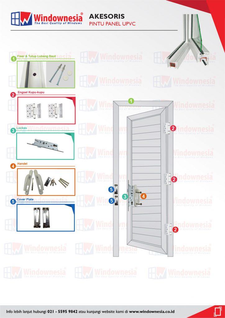 Aksesoris Pintu PANEL UPVC-03-03